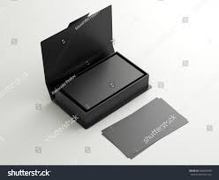 black contact business cards open cardboard stock illustration