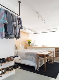 Wooden Shelf Gallery Rails by Wooden Shelves And Clothes Rail Closet Contemporary With Wall