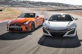 nissan sports car 2017 acura nsx vs 2017 nissan gt r head 2 head comparison motor