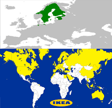 Ikea World Map The Swedish Empire Then And Now Funny