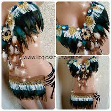the indian dark turquoise fringe rave by lipglosswear