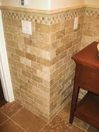 subway tile bathroom ideas wonderful subway tile wainscoting bathroom images design ideas