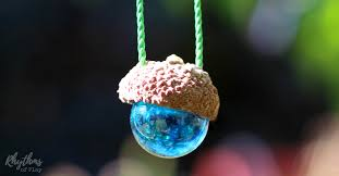 marble necklace diy acorn marble necklace nature craft rhythms of play
