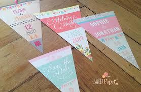 guirlande fanion mariage faire part mariage guirlande fanion sweet paper