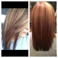 Warm Tone Hair Color Blonde Highlights With Mocha Violet Red Low Lights This Look Has