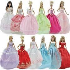 wedding clothes us 5pcs lot doll princess dresses party wedding