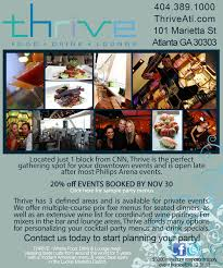 thrive restaurant atlanta events archive
