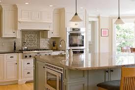 Design White Country Kitchen Cabinet Subway Tile Backsplash With - Country kitchen tile backsplash