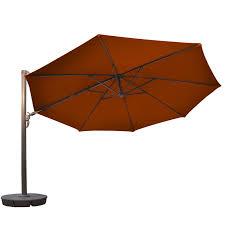 Aluminum Patio Umbrella by Island Umbrella Victoria 13 Ft Octagonal Cantilever Terra Cotta