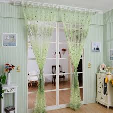home textile tree window curtains blinds voile tulle shower