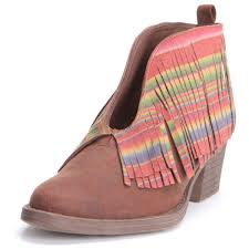 Brown Fringe Ankle Boots Women U0027s Ankle Boots Short Booties Pfi Western