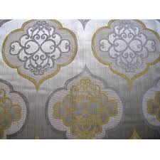 Exclusive Curtain Fabrics Designs Geometric Light Gold Damask Curtain Fabric Upholstery Fabric