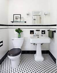 white tiled bathroom ideas 31 retro black white bathroom floor tile ideas and pictures
