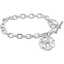 sterling silver monogram bracelet best silver monogram bracelet products on wanelo