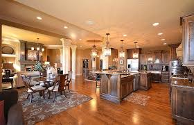 open floor plan kitchen and family room romantic 17 open floor plan kitchen family room space and living