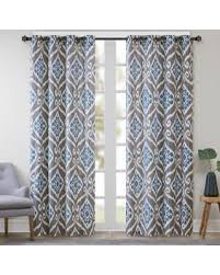 Blue Ikat Curtain Panels Check Out These Bargains On Park Printed Ikat Curtain
