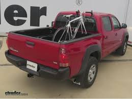 toyota tacoma bed rails rockymounts driveshaft truck bed rail bike rack installation