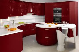 contemporary kitchen ideas in red and brown design decorating