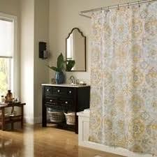 Geometric Burnout Shower Curtain Tan Geometric Burnout Shower Curtain Tan Threshold Tans Showers