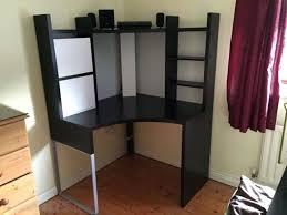 desk glacier workstation computer desk with storage shelf best