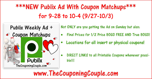 publix ad with coupon matchups for 9 28 to 10 4 9 27 10 3
