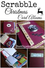repurposed scrabble christmas card albums