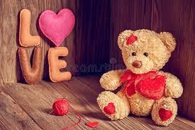 valentines day teddy valentines day teddy hearts word stock image
