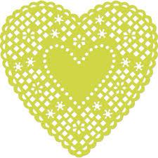 heart doily kaisercraft card creations heart doily 4 75 x4 75