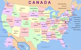 Map Of Canada And Us United States Map Showing States And Cities Maps Of Usa Maps Of