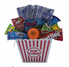 Popcorn Baskets Amazon Com Ultimate Movie Night Gift Bundle Care Package Easter