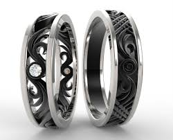 wedding sets his and hers his and hers matching wedding band set vidar jewelry unique