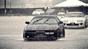 black nissan sports car drift muscle cars old rainbows rain sports car nissan supra