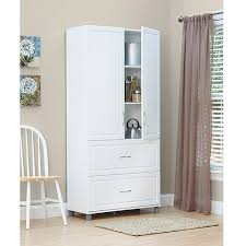 Storage Cabinet With Doors And Drawers Systembuild 36 2 Door 2 Drawer Storage Cabinet White Stipple