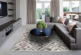 grey cow hide rug
