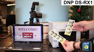 photo booth printer photo booth printer dnp ds rx1 2x6 cut driver demo with