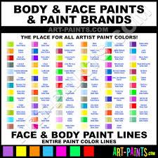 body art paints body face hair liquid latex clown dye