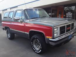 gmc jimmy 1989 gmc jimmy 4 x 4 california car
