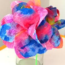 kids craft idea drip painted paper towel flowers childhood101