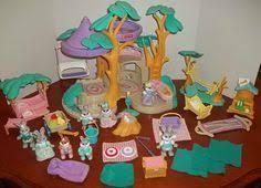 rabbit treehouse vtg 1993 fisher price loving family doll house 6364 w