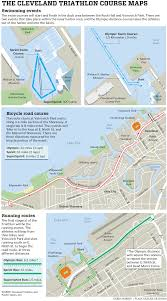 Cleveland State University Map by Cleveland Triathlon 2017 Start Times Course Maps Road Closures