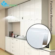 online get cheap kitchen cabinets wall aliexpress com alibaba group 60cmx5m white glossy stickers muraux diy decorative film pvc self adhesive wallpaper kitchen cabinet wall sticker