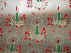 large rolls of christmas wrapping paper vintage 1940 s christmas wrapping paper lighted candles on