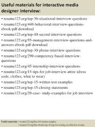 Media Resume Template Top 8 Interactive Media Designer Resume Samples