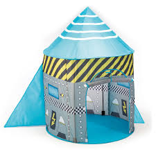 Mini Co Sleeper Canopy by Childrens Rocket Spaceship Pop Up Tent Boys Toy Play Tent