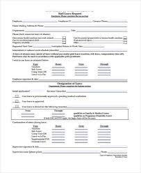 leave form templates examples billybullock us