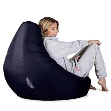 highback gaming bean bags available with or without a footstool