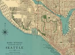 Map Of Seattle Vintage 1920 U0027s Seattle Street Map City Of Seattle