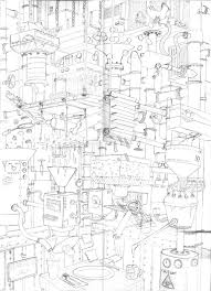 three factory and machine inspired sketches joe mills