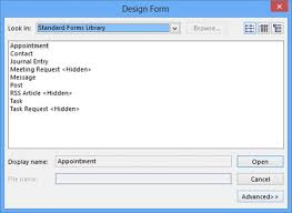 outlook 2013 design designing and using custom forms in microsoft outlook 2013