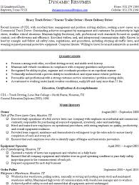 Delivery Driver Resume Example by Printable Summary Of Qualifications Forklift Operator Resume